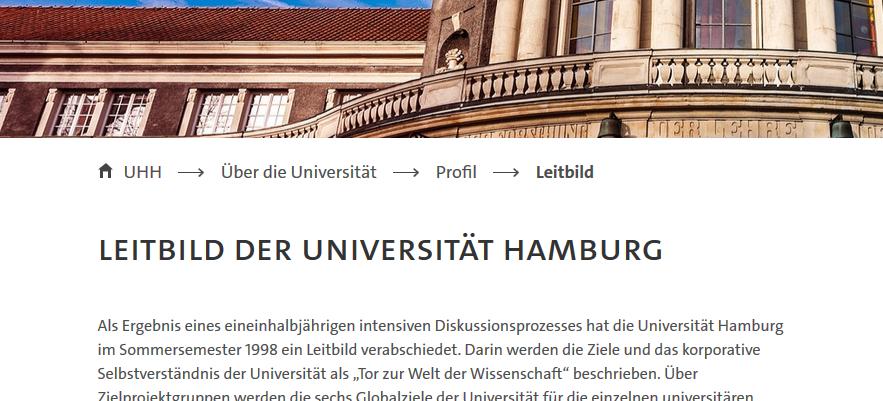 Leitbild der Universität Hamburg